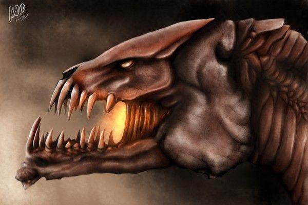 Étude de monstre (tête)